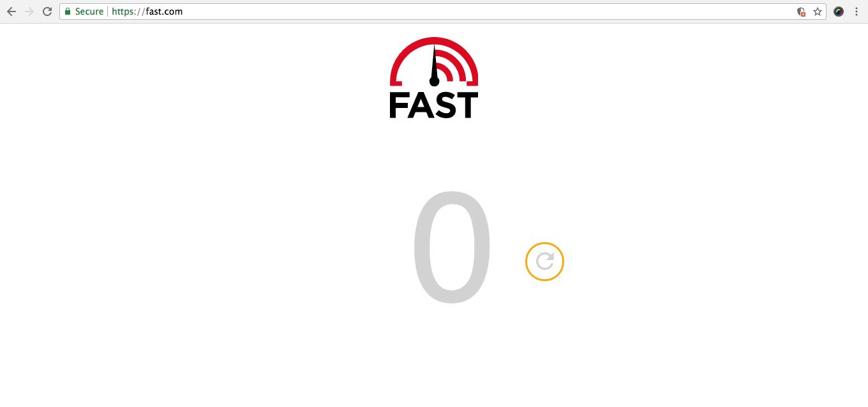Teste de velocidade